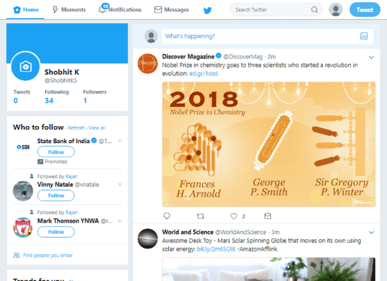 Twitter feeds with images
