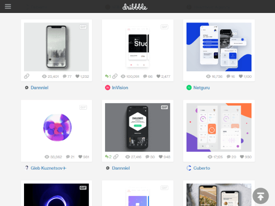 ui design templates for iOS, Android
