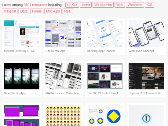 free ui design templates for iOS, Android