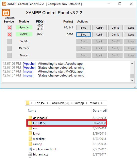 XAMPP start server place files