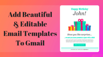 How To Add Editable Email Templates in Gmail
