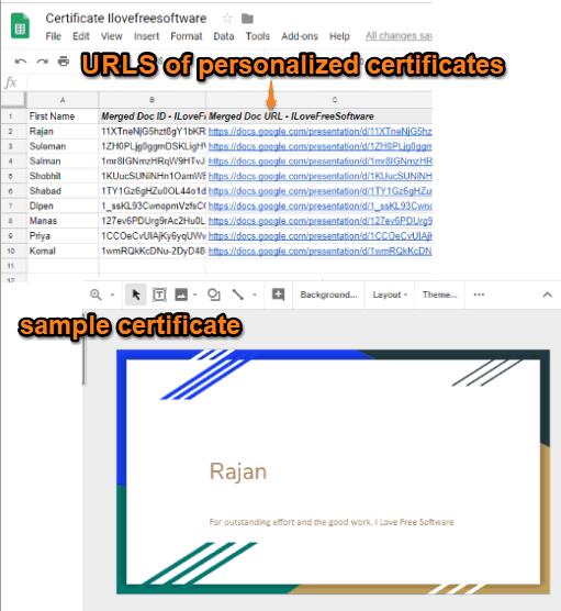 create personalized certificates in bulk using google slides