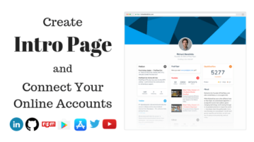 Create About Me Page with Your LinkedIn, GitHub, Other Online Profiles