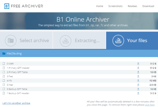 extract dmg file online for free