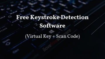 Free Keystroke Detection Software With Virtual Key, Scan Code