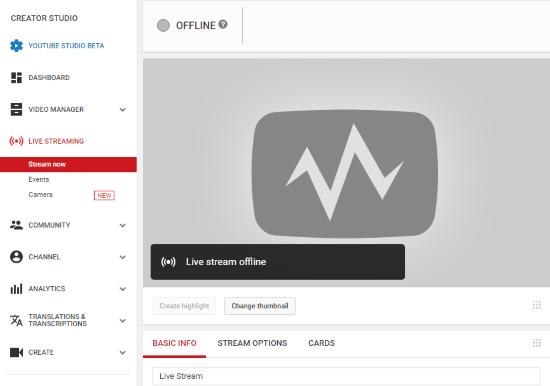 live stream wedding to YouTube