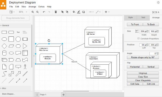 make deployment diagram online free
