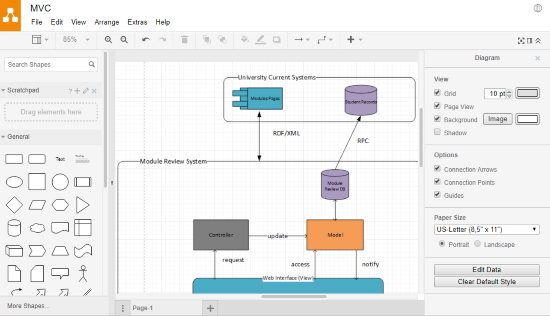 make system architecture diagram online for free
