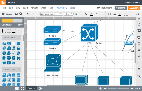 create system architecture diagram online for free
