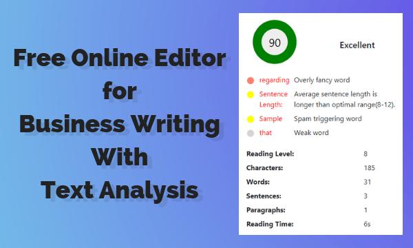 Online writing editor