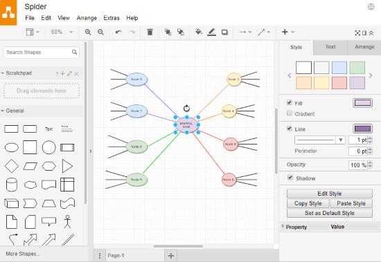 online spider diagram maker free