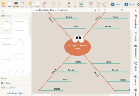 make spider diagram online free
