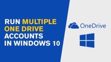 run multiple onedrive accounts in windows 10