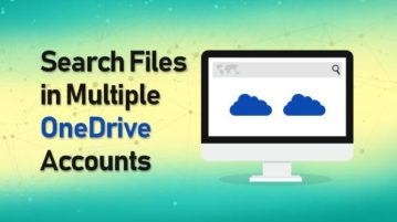 search files in multiple onedrive accounts