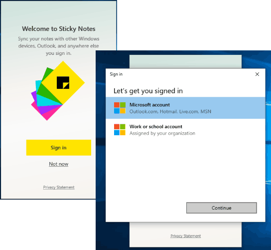 sign in with your microsoft account