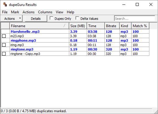 free similar audio file finder software