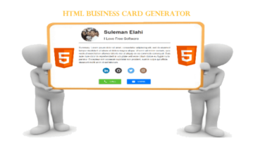 3 Free HTML Business Card Generator Websites