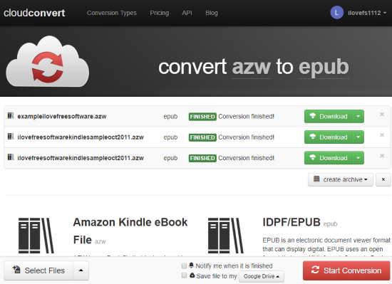 4 Online AZW to ePub Converter Free Websites