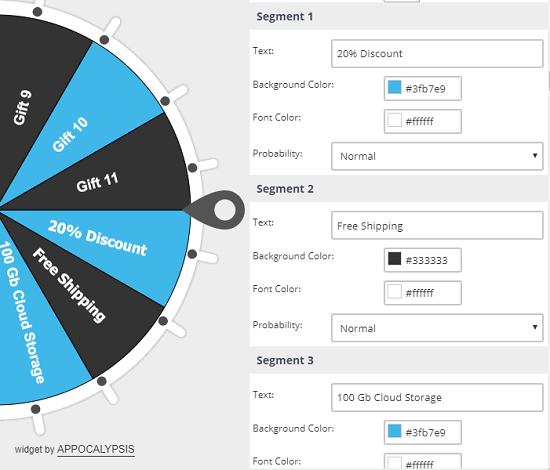 Customize the wheel