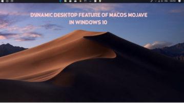 Dynamic Desktop feature of macOS Mojave in Windows 10