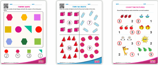 EDUBUZZKIDS counting worksheets
