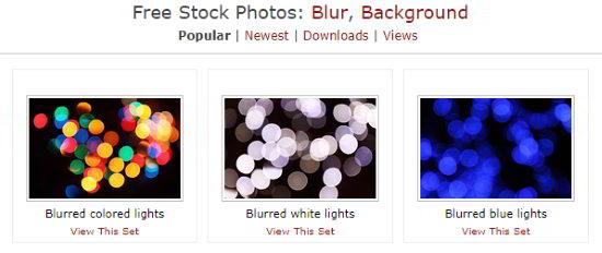 Free Stock Photos.biz interface