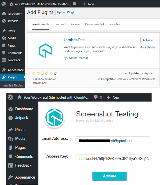 Install LambdaTest and sign in