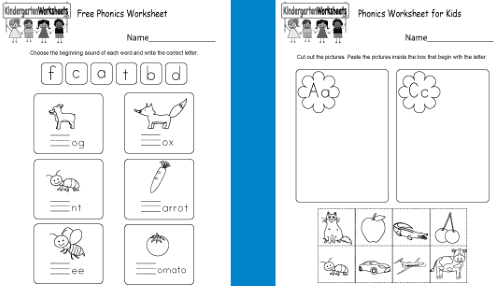 KindergartenWorksheets