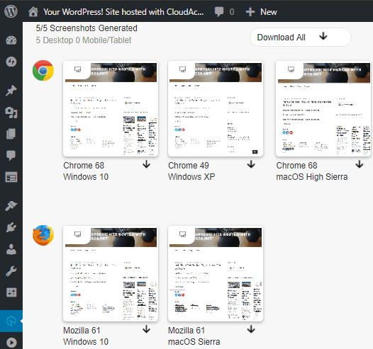 LambdaTest Screenshots Generated