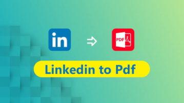 LinkedIn to PDF