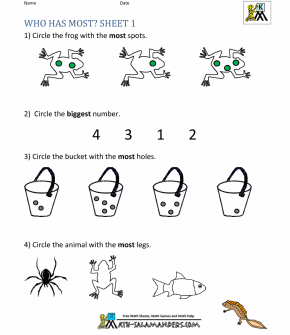MATH-SALAMANDERS worksheet