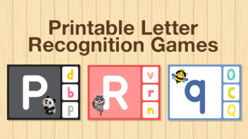 Printable letter recognition games