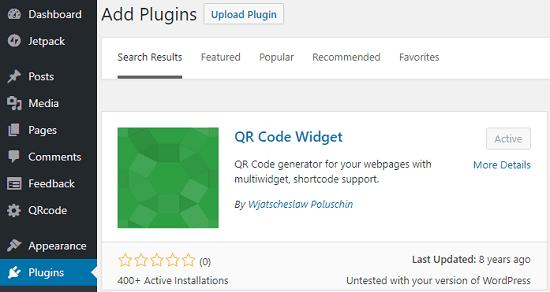 QR Code Widget Plugin free