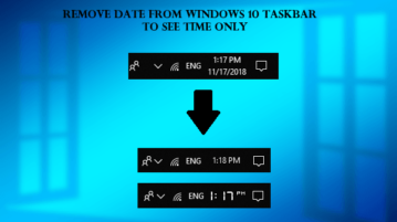 Remove Date from Windows 10 Taskbar to See Time Only
