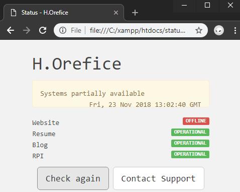 Staus - free open source staus page system