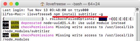 Subtitler install in MAC
