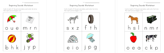 All Kids NETWORK phonics worksheets
