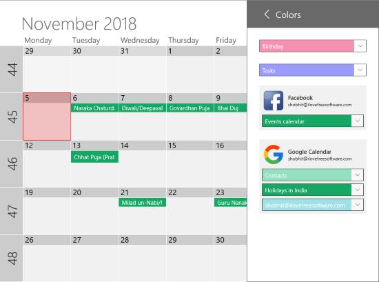 free Windows 10 calendar app with Outlook Calendar