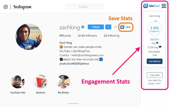 get analytics on Instagram profiles
