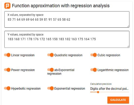 free online regression calculator