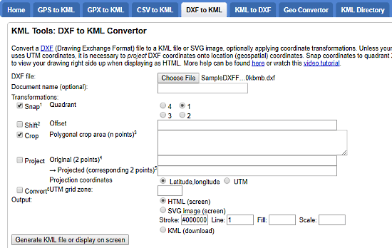 free online dxf to kml converter