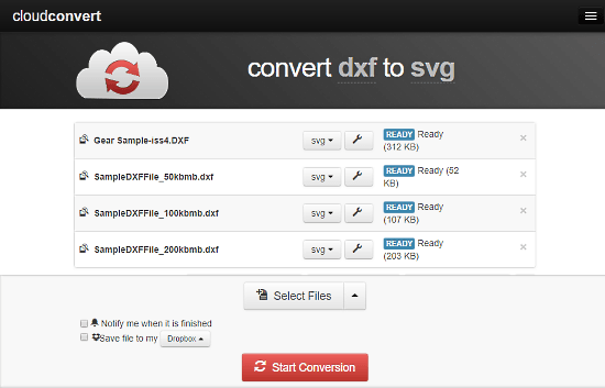 convert dxf to svg online free