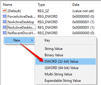 create NoStrCmpLogical dword value