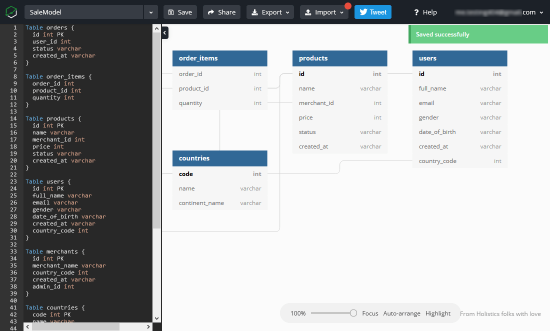 make database diagram online for free