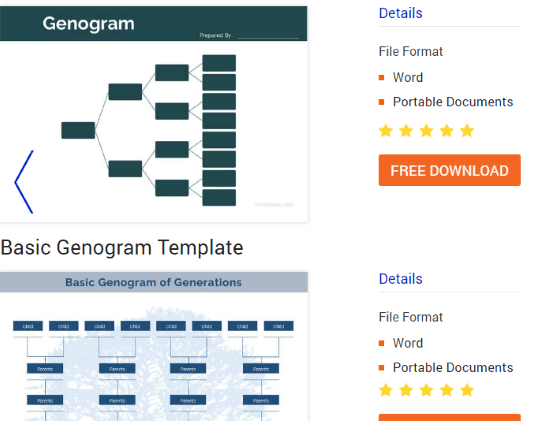 free genogram templates