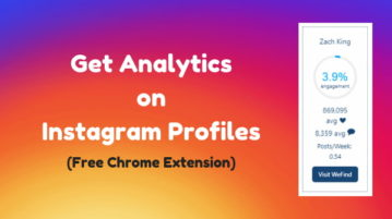 Free Chrome Extension To Get Analytics On Instagram Profiles