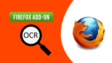 image reader OCR Firefox add-on