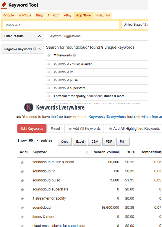 keyword Tool app store keyword research tool
