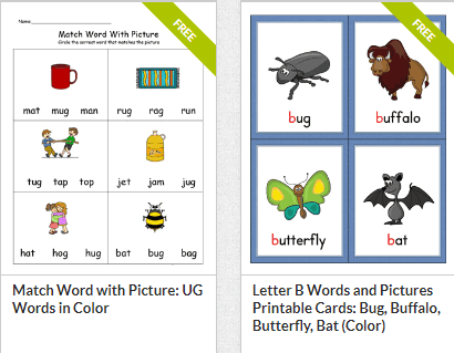 my Teaching Station phonics worksheets