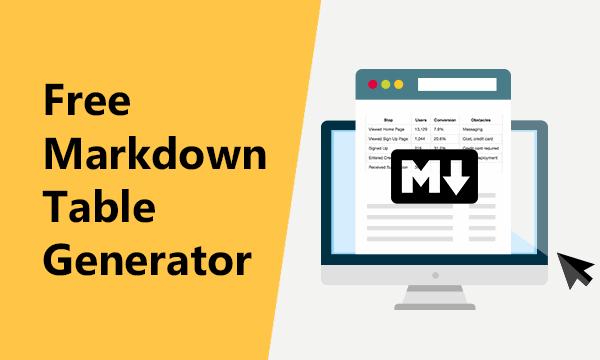 4 Online Markdown Table Generator Free Websites